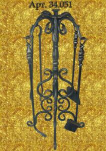 Набор для камина кованый 4-х предметный. Олседом