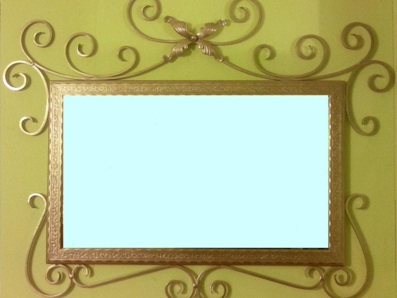 Зеркало в кованой рамке. ОлСеДом